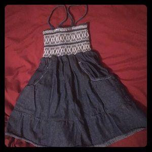 GORGEOUS Denim spaghetti strap dress!!! 4T